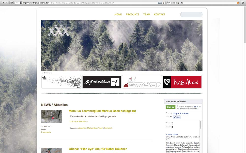 Website Redesign: www.triplex-sports.de