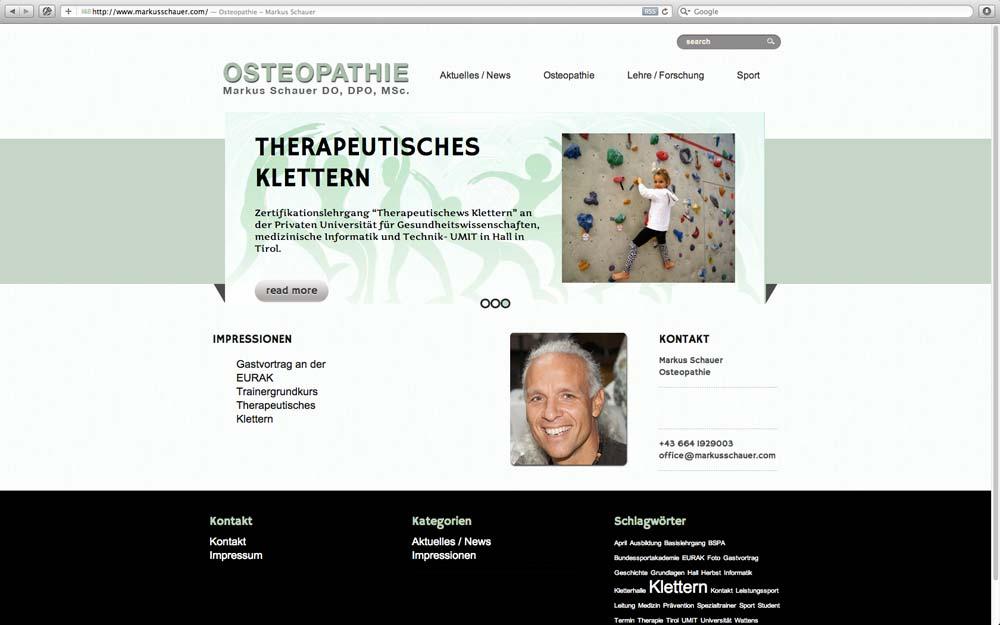 New Website done: markusschauer.com